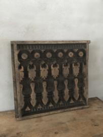 Prachtig groot origineel oud paneel mal gipsmodel gipsmal van plafondornament Wandpaneel wandornament Luik landelijk