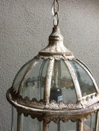 Prachtige lantaarnlamp lantaarn landelijk Brocant stoer gebroken wit shabby verweerd