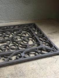 Gietijzeren deurmat wandpaneel hek rek rooster landelijk gietijzer rechthoekige
