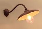 Tierlantijn Frezoli stallamp buitenlamp wandlamp incl stolp grijs loodkleurig loodkleur