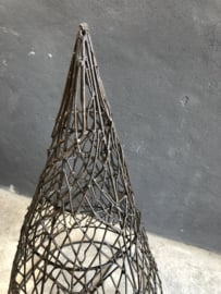 Zwaar metalen boom boompje tuinornament decoratie kerstboom Kerstboompje landelijk industrieel stoer vintage grijs bruin metaal landelijke stijl landelijk