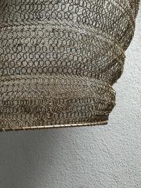 Hanglamp gaas draadijzer antiek brons 20 x 18 m landelijk stoer