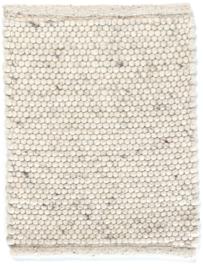 Groot handgewoven 100 % vervilt wol vloerkleed kleed carpet karpet ivory 240 x 170 cm