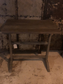 Vergrijsd houten schrijftafel wandmeubel wandtafel eettafel keukentafel euro bureau landelijk stoer Schrijftafeltje Aura Peeperkorn