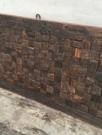 Massief railway houten Wandpaneel paneel wanddecoratie sloophout sloophouten wagonplanken landelijk vintage industrieel urban 120 x 60 cm
