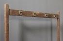 Orgineel staand houten rek kapstok plaid rek dekenrek landelijk stoer oud H156 x 110 x 35 cm