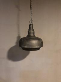 Matzwarte hanglamp lamp mat zwart landelijk stoer industrieel 34 cm