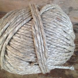 Bol grof jute touw rope 55 meter landelijk brocant grove