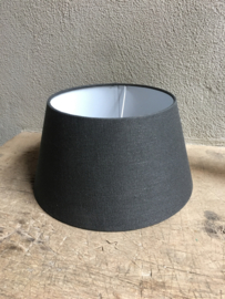 Lampekap lampenkap lampekapje donkergrijs grijs antraciet  35 cm ton tonnetje  tonmodel