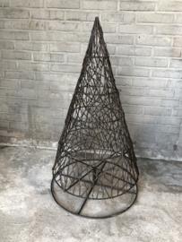 Zwaar metalen kerstboom Kerstboompje landelijk industrieel stoer vintage grijs bruin metaal landelijke stijl landelijk