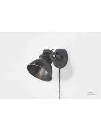 Industriële oud gerecycled metalen spotje hanglamp industrieel antraciet mat zwart old look urban wandlamp 1 kap spot spots plafondlamp plafoniere metaal verstelbaar landelijk stoer vintage