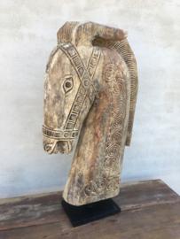 Enorm groot houten paardenkop paardekop paard 75 cm horse paardehoofd landelijk