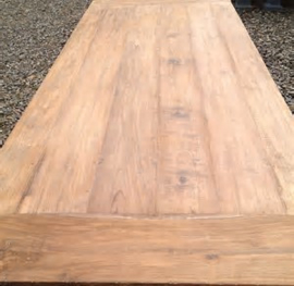 oud teakhouten tafelblad 80 X 80 cm