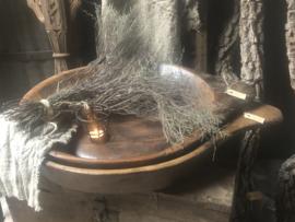 Houten Nepal schaal landelijk vintage industrieel stoer donker hout