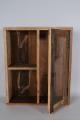 Oud houten vitrinekastje vitrine wandkastje landelijk stoer industrieel glas oud hout 50 x 60 x 15 cm