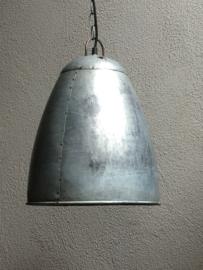 Grijze metalen industriële lamp hanglamp grijs fabriekslamp industrieel landelijk stoer