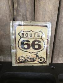 Metalen reclame platen plaat reclamebord Route 66 vintage retro industrieel
