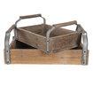Set van 2 houten dienbladen dienblad tray bak schaal landelijk industrieel hout metaal stoer