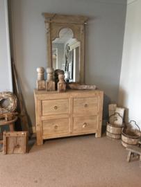 Prachtig olmenhouten kast kastje dressoir ladenkast landelijk stoer olm houten elmwood ladekast