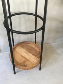 Staande kapstok hout metaal landelijk industrieel vintage
