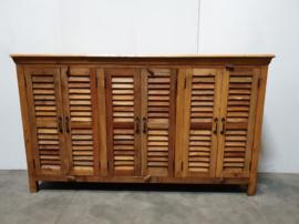 Stoer houten dressoir Sidetable hout landelijk louvredeurtjes luikjes Louvre shutters