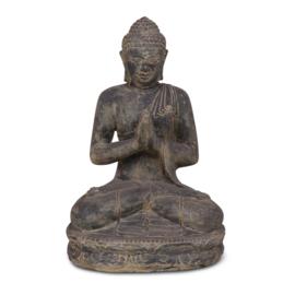 Stenen boedha buddha boeddha beeld beeldje 41 x 33 x 61 cm zwart grijs