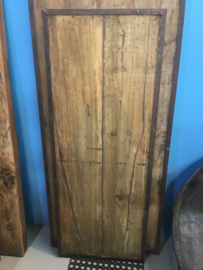 Oude ( vergrijsde ) landelijke industriële eettafel keukentafel 150 x 60 cm tuintafel klaptafel werkbank werktafel oud vintage stoer