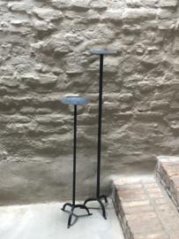 Smeedijzeren kandelaar landelijk vloerkandelaar vloerkandelaars stoer industrieel 90 cm hoog
