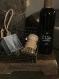 Leuk landelijk Keukensetje keuken wasbak stoer zeep zeepbakje handzeep / afwasmiddel borsteltje plankje
