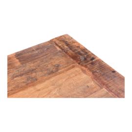 Stoere grote oud houten tafel landelijk industrieel 180 x 90 cm Milano eettafel