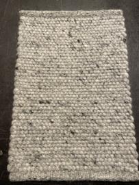 Staal vloerkleed wol