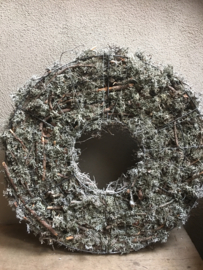 Vergrijsde krans bonsai Cone mos rendiermos 60-65 cm whitewash wit grijze