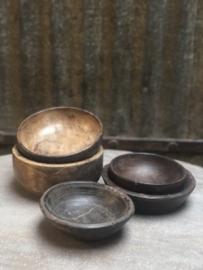 Nepal schaaltjes schaal schaaltje bak bakje kommetje kom oude schaaltjes landelijk vintage urban oud hout