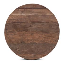 houten tafelblad hout houten blad robuust stoer rond 80 cm