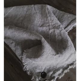 Shabby doek gerafeld met zeiloog 50x50 cm