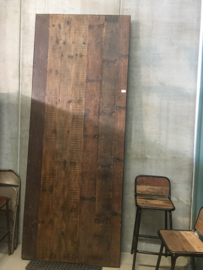 Gave industriële robuuste tafel eettafel 280 x 110 x 76 cm klaptafel metaal metalen onderstel inklapbaar oud houten blad doorleefd railway hout landelijk vintage