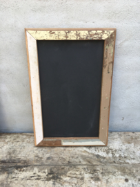 Oud sloophouten krijtbord wandbord schoolbord 60 X 40 cm vintage landelijk industrieel schrijfbord stoer