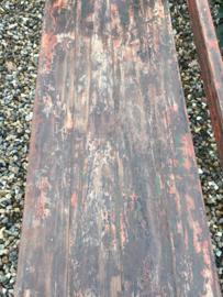 Gaaf oud houten rek keukenkast schap boekenkast kastje keukenrek kast Bakkersrek winkelkast landelijk vintage industrieel hout