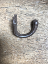 Gietijzeren haak haakje kapstokhaak kapstok wandhaak wandhaakje landelijk bruin  5 cm
