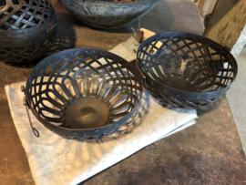 Metalen decoratiebol bal landelijk stoer
