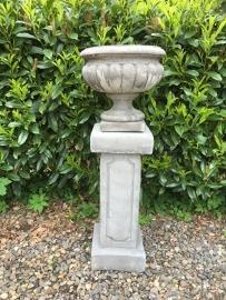 Betonnen tuinvaas pot vaas bak beton tuinpot landelijk robuust