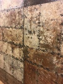 Oud ijzeren plaat paneel Wandpaneel zo stoer! Deur schuifdeur poort tafelblad  200 x 90 wandbekleding tafelblad metaal metalen industrieel landelijk stoer grijsbruin