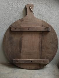 Ronde houten broodplank snijplank kaasplank landelijke stijl rond 27 cm