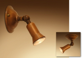 Tierlantijn spot koper spotje wand plafond halogeen mini klein plafondspot wandspot Tierlantijn modena