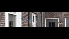 Tierlantijn stallamp buitenlamp wandlamp incl stolp grijs loodkleurig loodkleur
