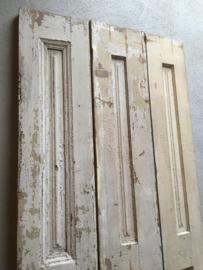 Oude brocante houten luiken 3 Luik landelijk stoer whitewash beige
