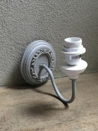 Landelijk taupe grijs wandlampje wandlamp lamp lampje stoer