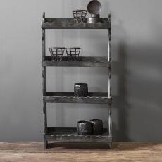 Stoer zwart grijs houten wandrek schap rekje wandrekje landelijk stoer vintage industrieel hout 73 x 39 x 13 cm