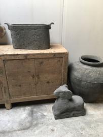 Mega grote kruik pot vaas steen stenen landelijk stoer new gray grau grey grijs grijze antraciet donkergrijs