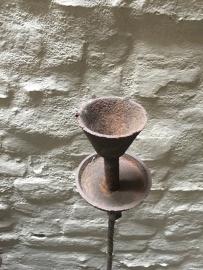 Stoere metalen industriele kandelaars vloerkandelaar kandelaar theelicht smalle stompkaars Industrieel landelijk